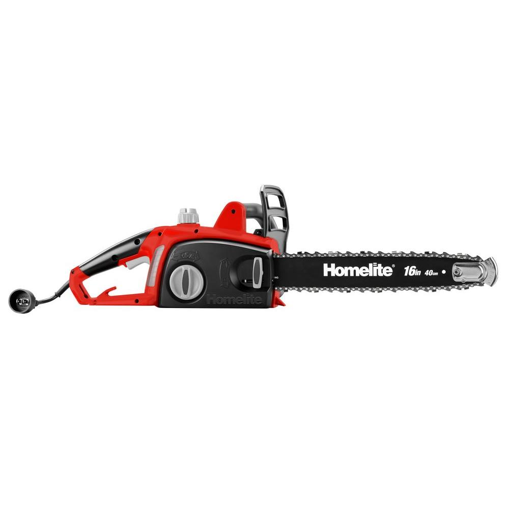 Homelite 16 in 12 amp electric chainsaw ut43122b the home depot 12 amp electric chainsaw greentooth Image collections