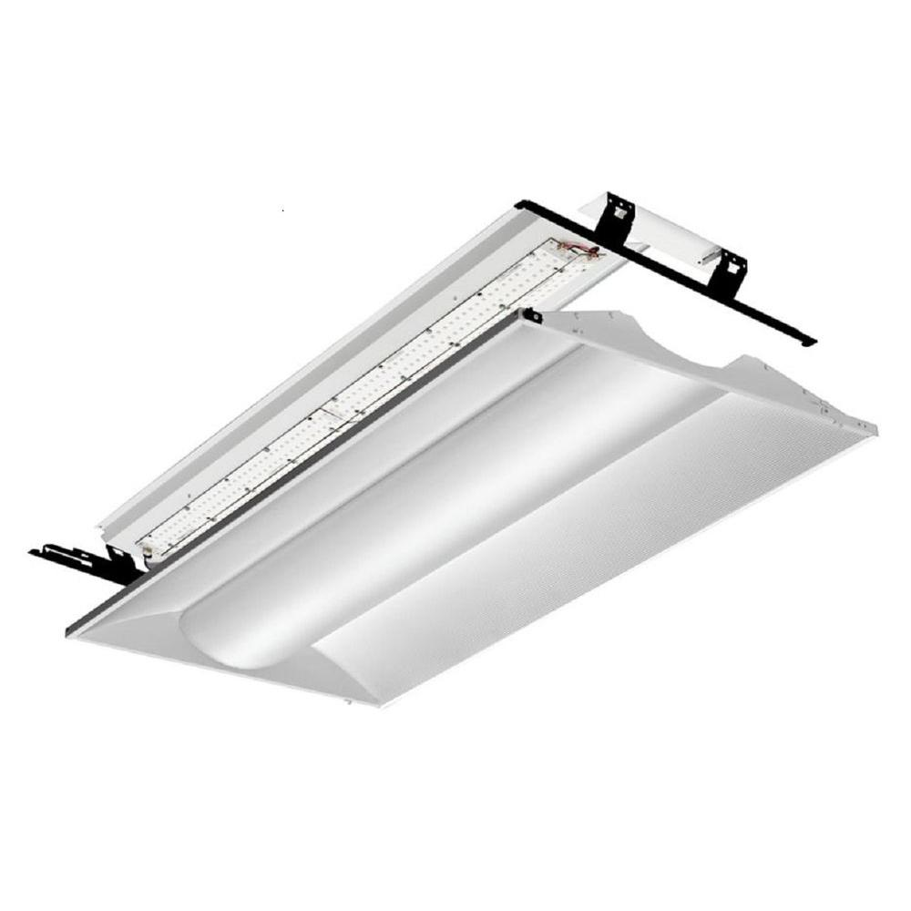 Troffers commercial lighting the home depot 2 ft x 4 ft white led architectural troffer relight kit arubaitofo Choice Image