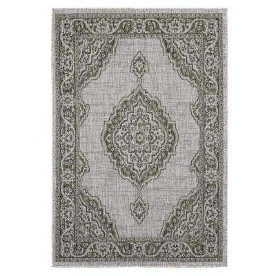 Augusta Sant Andrea Green 7 ft. 10 in. x 10 ft. 6 in. Indoor/Outdoor Area Rug