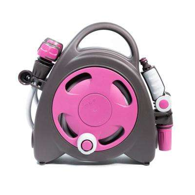 Aquabag 1 in. x 38 ft. Fuchsia Mini Portable Hose and Reel