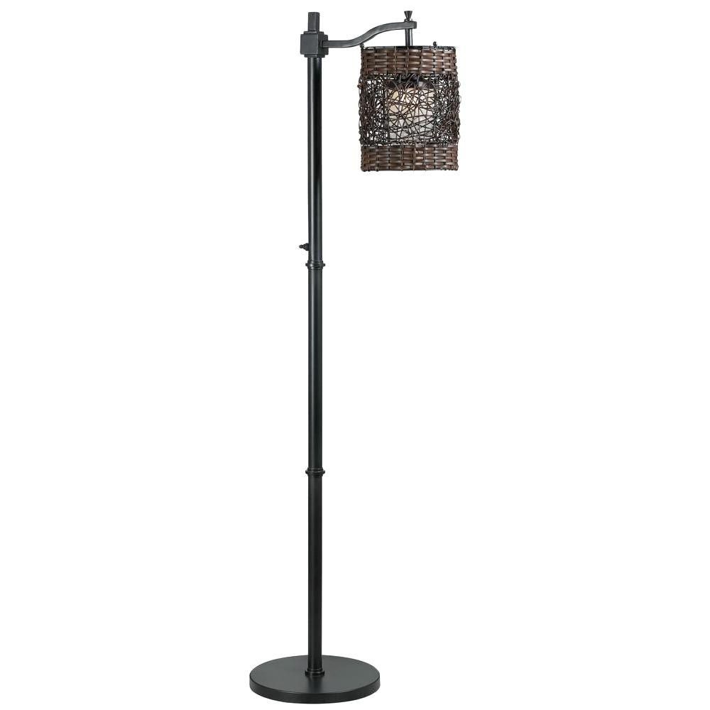 Kenroy Home Brent 60 in. Oil-Rubbed Bronze Outdoor Floor Lamp ...