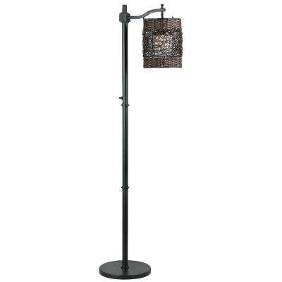 Brent 60 in. Oil-Rubbed Bronze Outdoor Floor Lamp