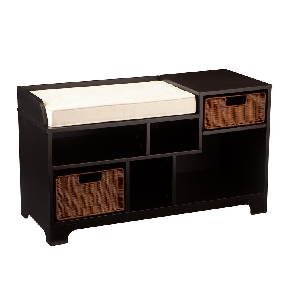 Prime Southern Enterprises Harmyn Black Storage Bench Hd748139 Frankydiablos Diy Chair Ideas Frankydiabloscom