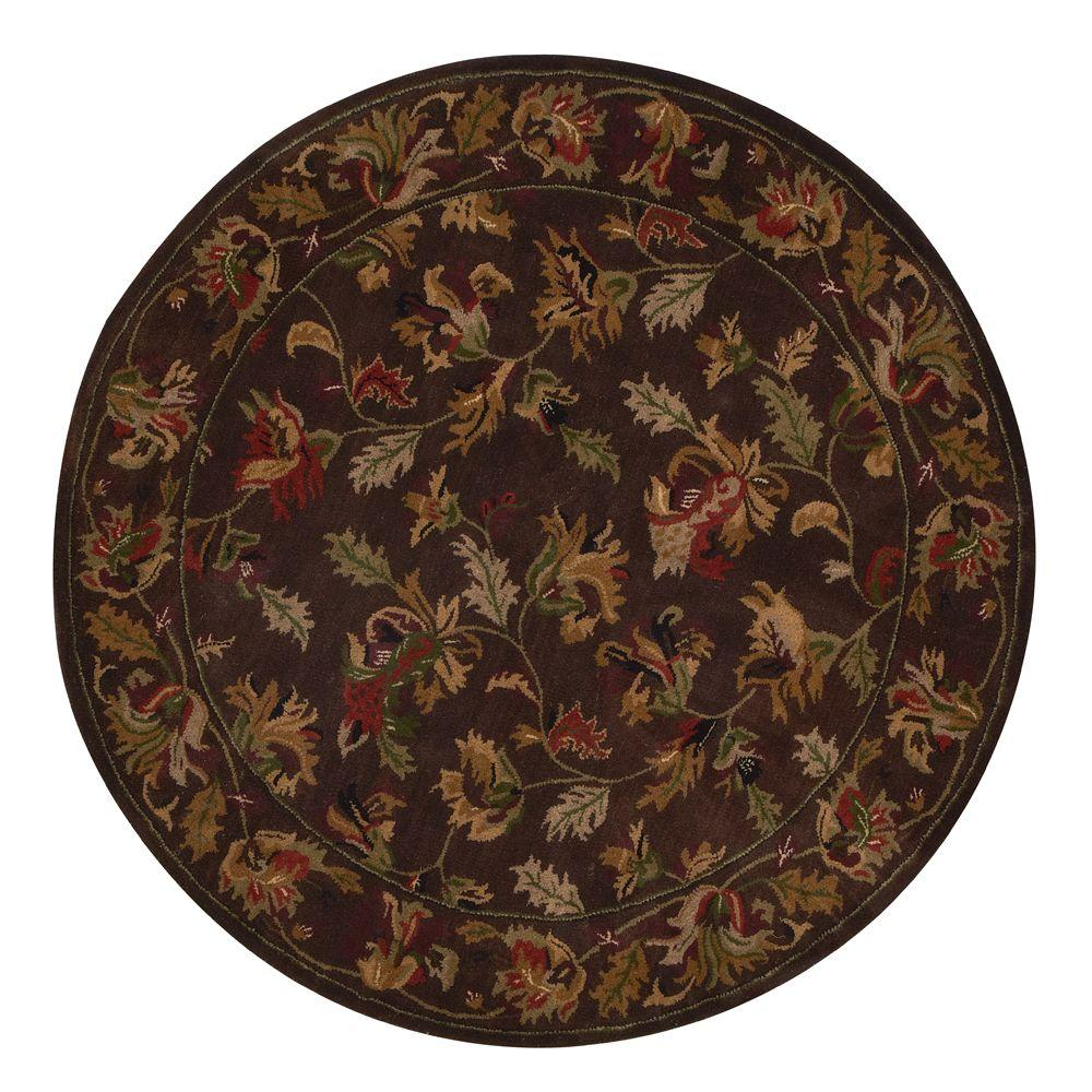 Home Decorators Collection Governor Brown 3 ft. 6 in. Round Area Rug