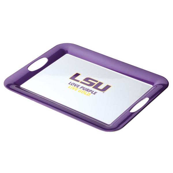 College Kitchen Collection Serve 'n Score LSU Party Platter, 16-Inch by