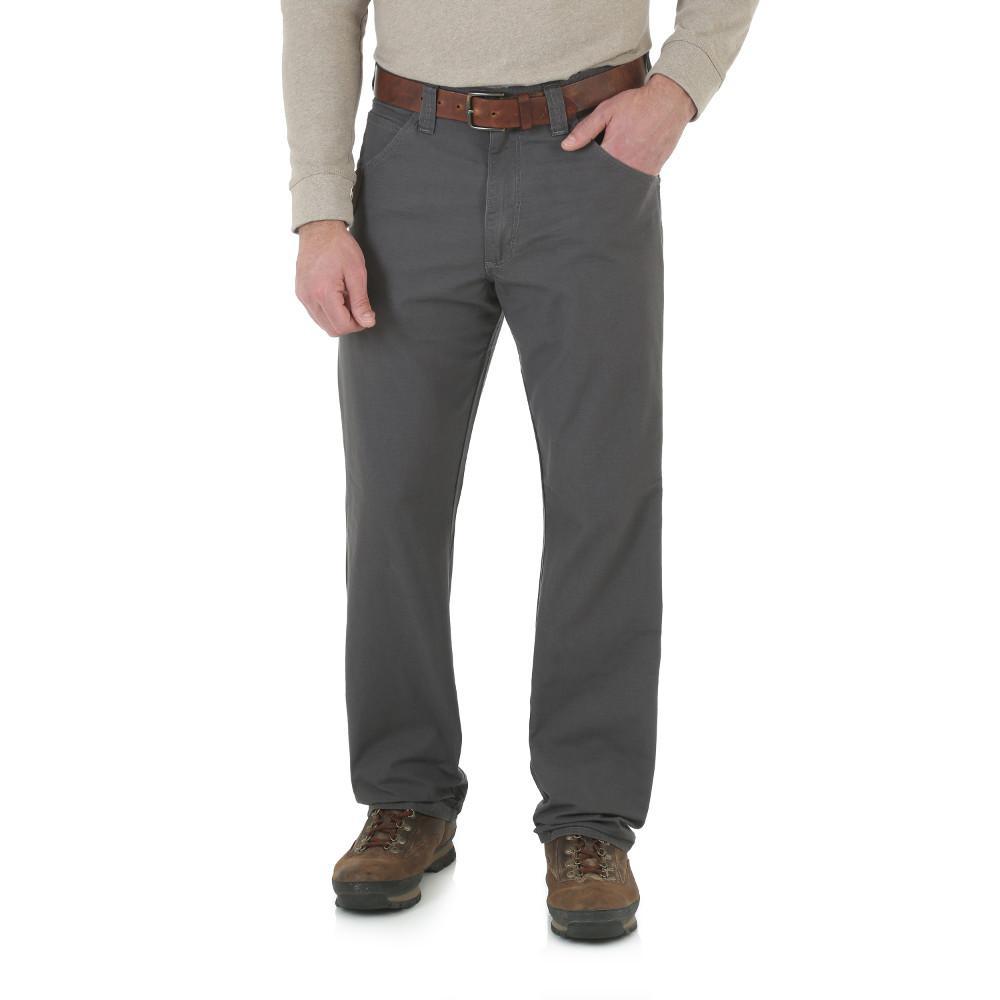 Men's Size 38 in. x 30 in. Charcoal Technician Pant