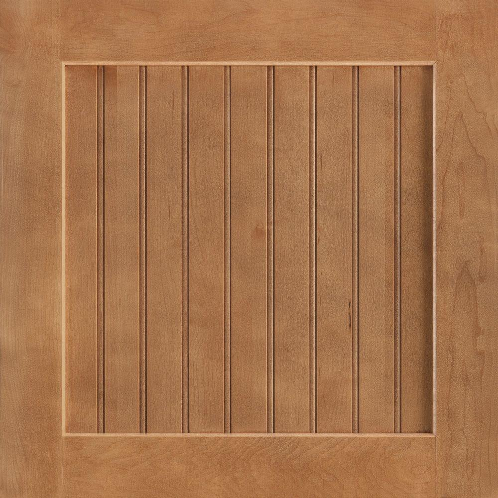 American Woodmark 14-9/16x14-1/2 in. Shorebrook Maple Cabinet Door Sample in Spice