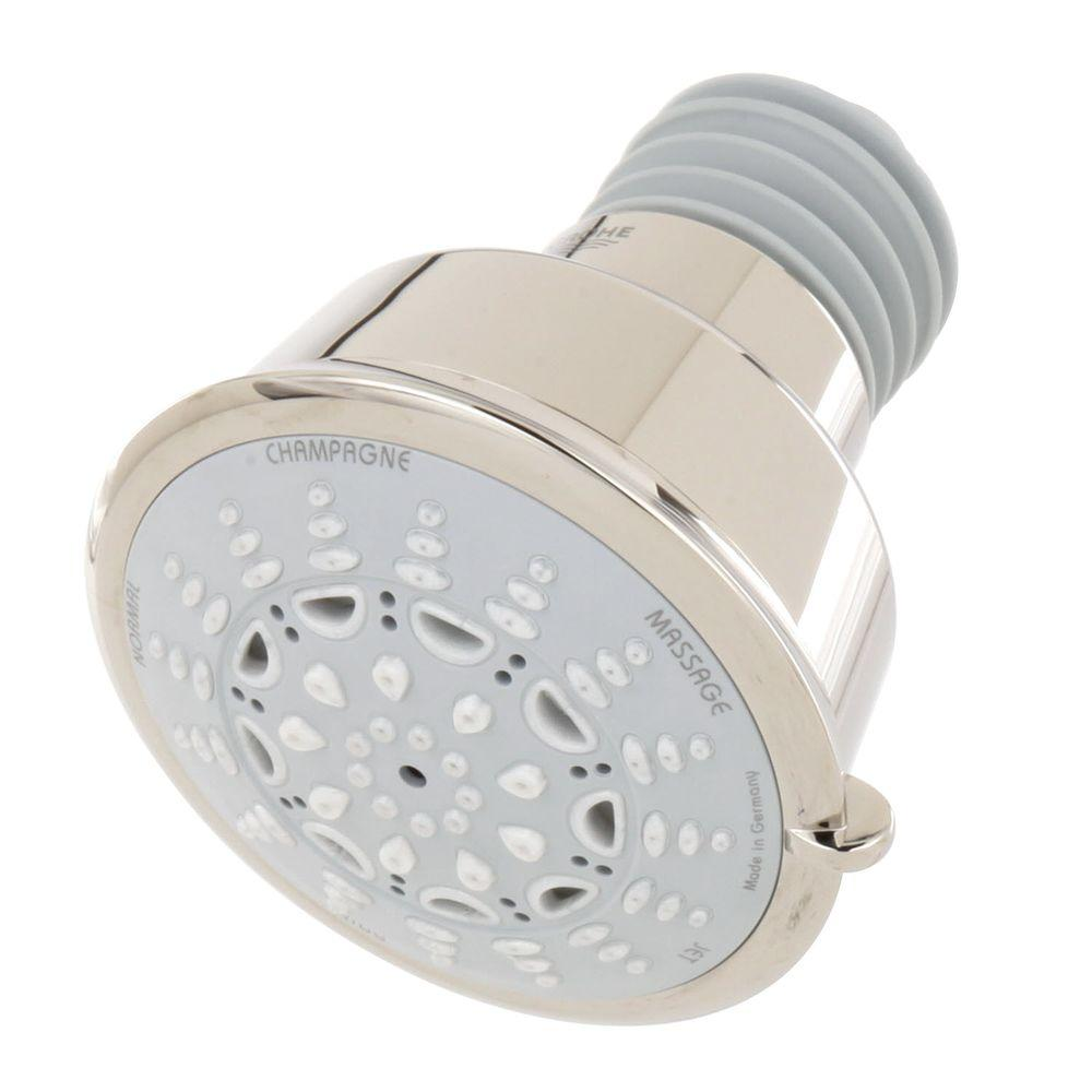 GROHE Relax Rustic 5-Spray 4.0625 in. Raincan Showerhead in Polished Nickel