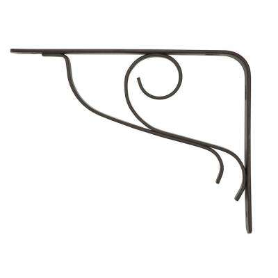 6 in. D x 8 in. H Bronze Vine Decorative Shelf Bracket
