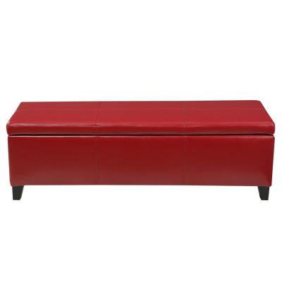 Glouster Red PU Leather Storage Bench