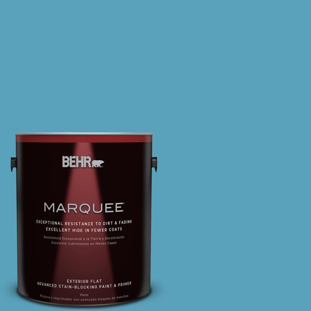 BEHR MARQUEE 1-gal. #540D-5 Tropical Splash Flat Exterior Paint
