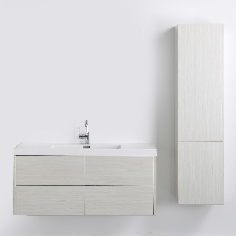 Streamline 47.2 in. W x 19.3 in. H Bath Vanity in Gray with Resin Vanity Top in White with White Basin