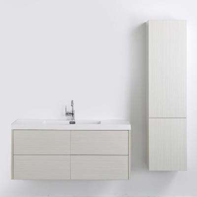 47.2 in. W x 19.3 in. H Bath Vanity in Gray with Resin Vanity Top in White with White Basin