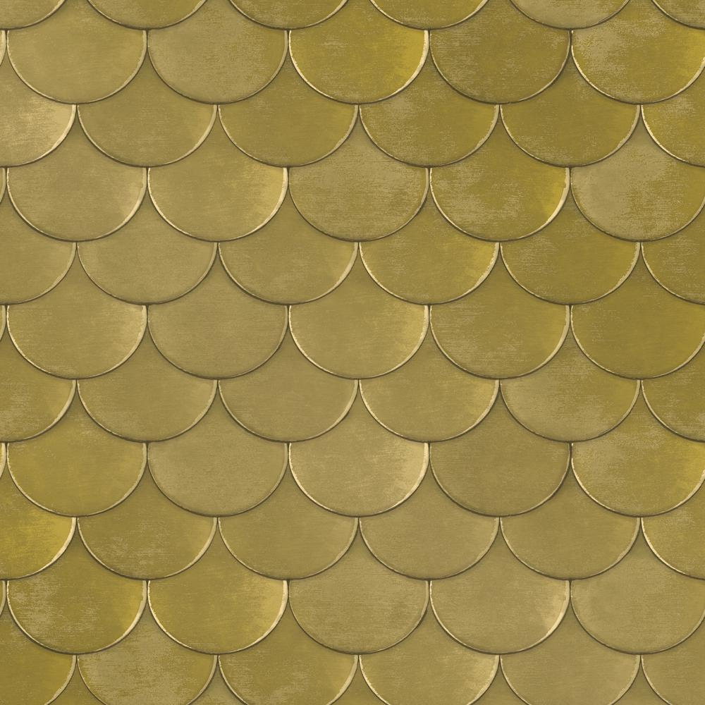 Tempaper genevieve gorder brass belly old world brass for Gold self adhesive wallpaper