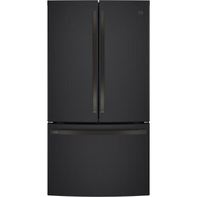 Profile 23.1 cu. ft. French Door Refrigerator in Black Slate, Counter Depth, Fingerprint Resistant and ENERGY STAR