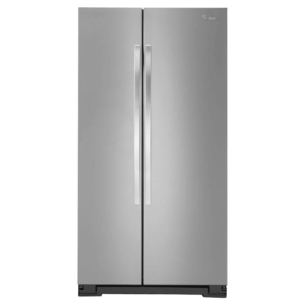Whirlpool 24.9 Cu. Ft. Side By Side Refrigerator In Monochromatic Stainless  Steel