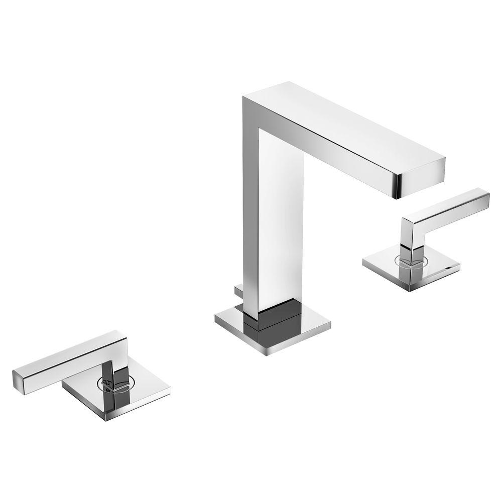 Symmons Duro 8 in. Widespread 2-Handle Bathroom Faucet in Chrome-SLW ...