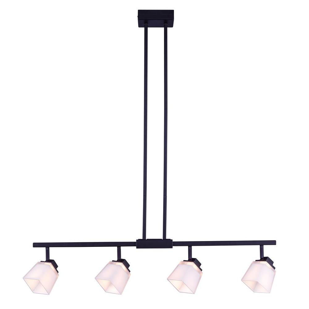 Hampton bay 4 light antique bronze directional led island track hampton bay 4 light antique bronze directional led island track lighting fixture with square white aloadofball Choice Image