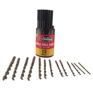 Click here to buy BLU-MOL Xtreme Cobalt Drill Bit Set (13-Piece) by BLU-MOL.