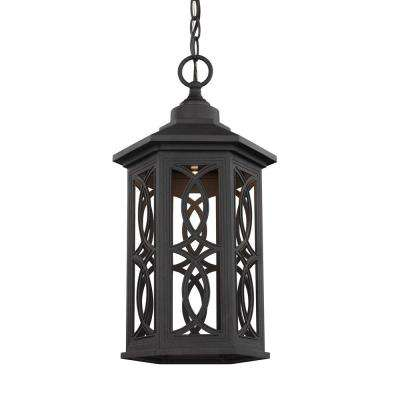 Sea gull lighting outdoor lighting lighting the home depot ormsby black 1 light outdoor hanging pendant aloadofball Gallery