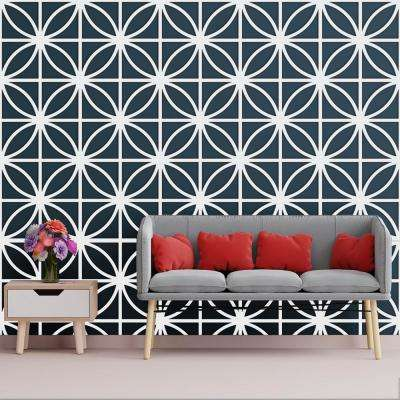 3/8 in. x 23-3/4 in. x 23-3/4 in. Large Swansea White Architectural Grade PVC Decorative Wall Panels