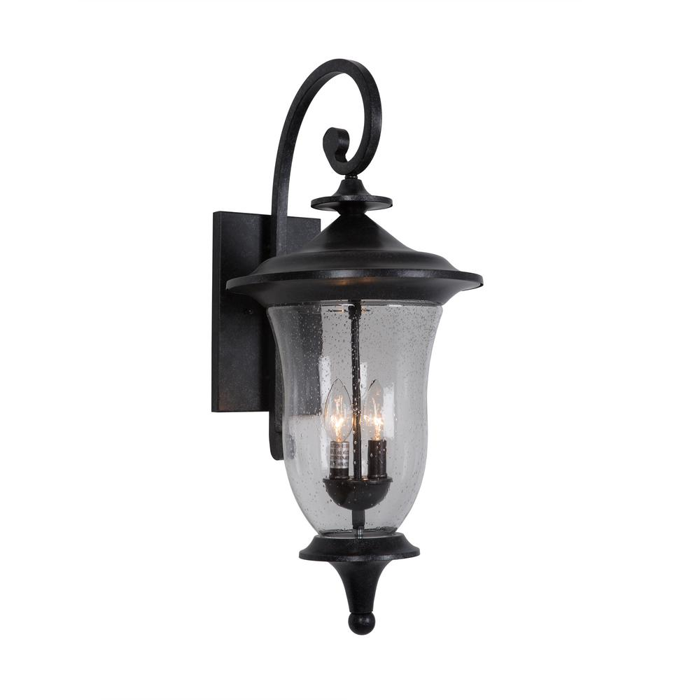 Yosemite home decor fig garden collection 2 light stone for Decorating outdoor lanterns