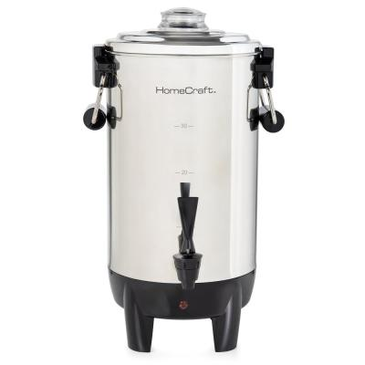 30-Cup Stainless Steel Coffee Urn with Reusable Filter