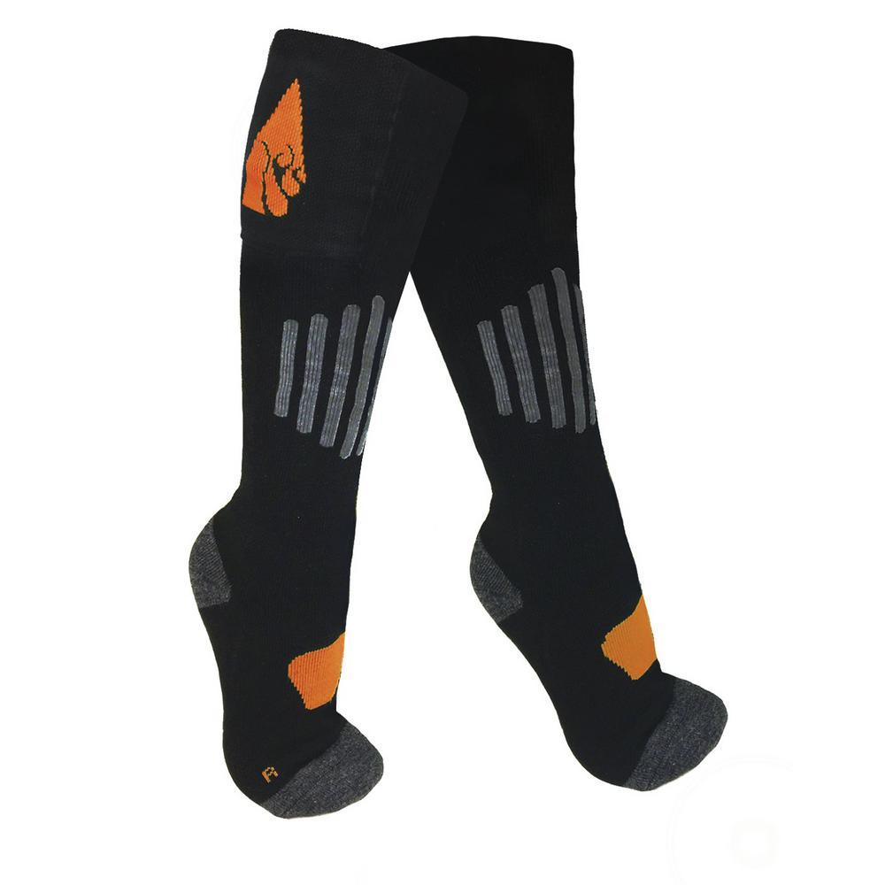 ActionHeat Large/X-Large Black Wool 3.7-Volt Heated Sock by ActionHeat