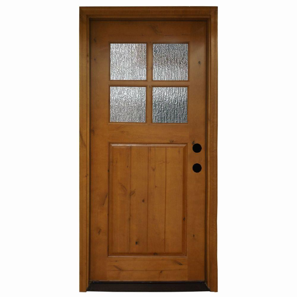 Exterior Doors At Home Depot: Steves & Sons 36 In. X 80 In. Cottage 4 Lite Rain Stained