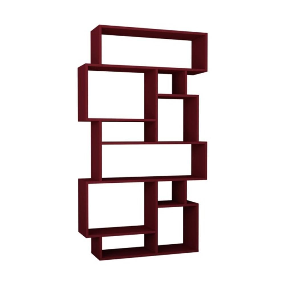 Berkshire Burgundy Mid-Century Modern Bookcase