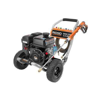 3000-PSI 2.6-GPM Gas Pressure Washer with Cat Pump and Idle Down
