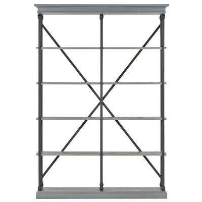 Manor Drive Grey Open Bookcase