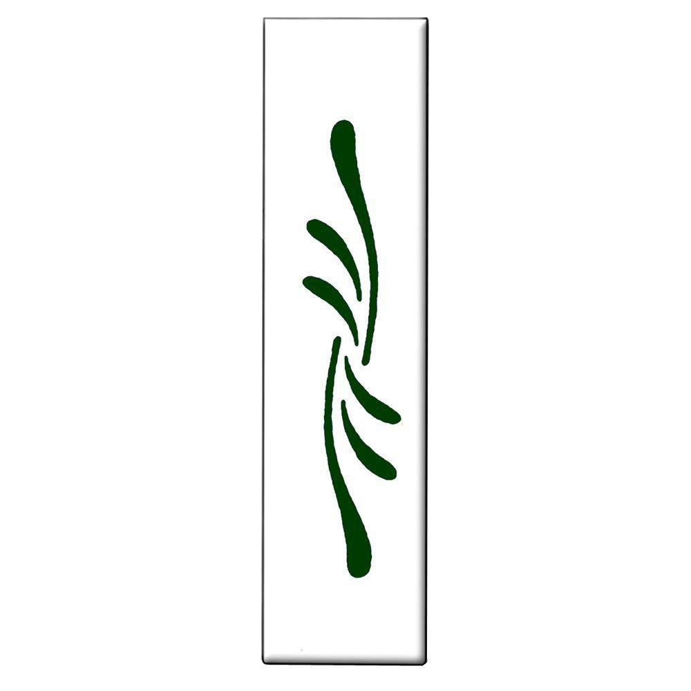 null 1 in. x 4 in. Green Flourish Spacer