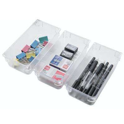 Clear Plastic Drawer Organizers (Set of 3)