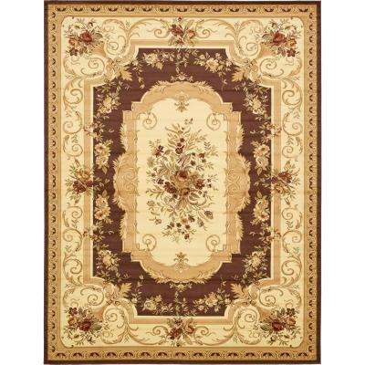 Traditional  Versailles Brown 10 ft. x 13 ft. Rug
