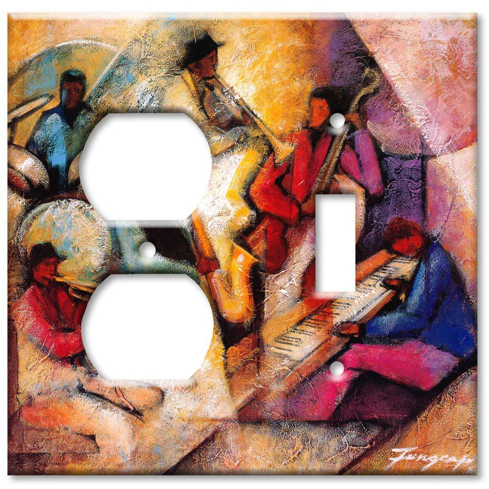 Art Plates Blues Jam Session Outlet/Switch Combo Wall Plate