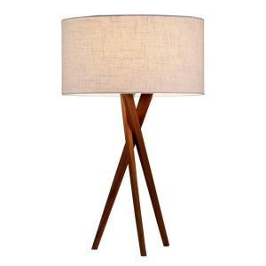 Adesso Brooklyn 25 inch Walnut Table Lamp by Adesso