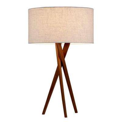 Brooklyn 25 in. Walnut Table Lamp