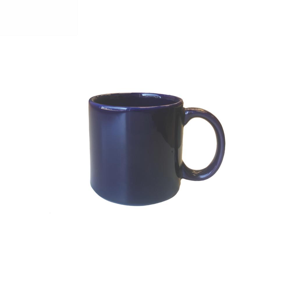 Actual 12.17 oz. Blue Earthenware Mugs (Set of 6)