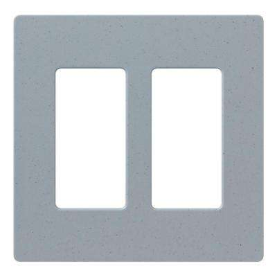 Claro 2 Gang Decorator Wallplate, Bluestone