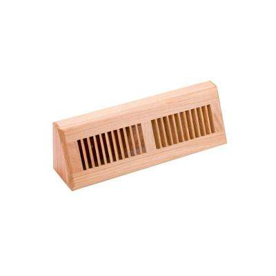 4.5 in. x 15 in. Wood White Oak Natural Finish Base Board Diffuser