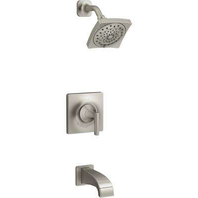 Katun 1-Handle 3-Spray Tub and Shower Faucet in Brushed Nickel (Valve Included)