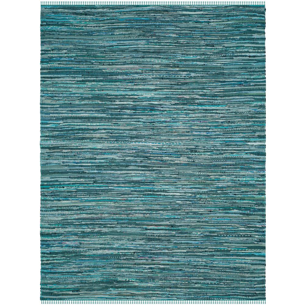 Safavieh Wyndham Turquoise Green 8 Ft X 10 Ft Area Rug: Safavieh Rag Rug Turquoise/Multi 8 Ft. X 10 Ft. Area Rug
