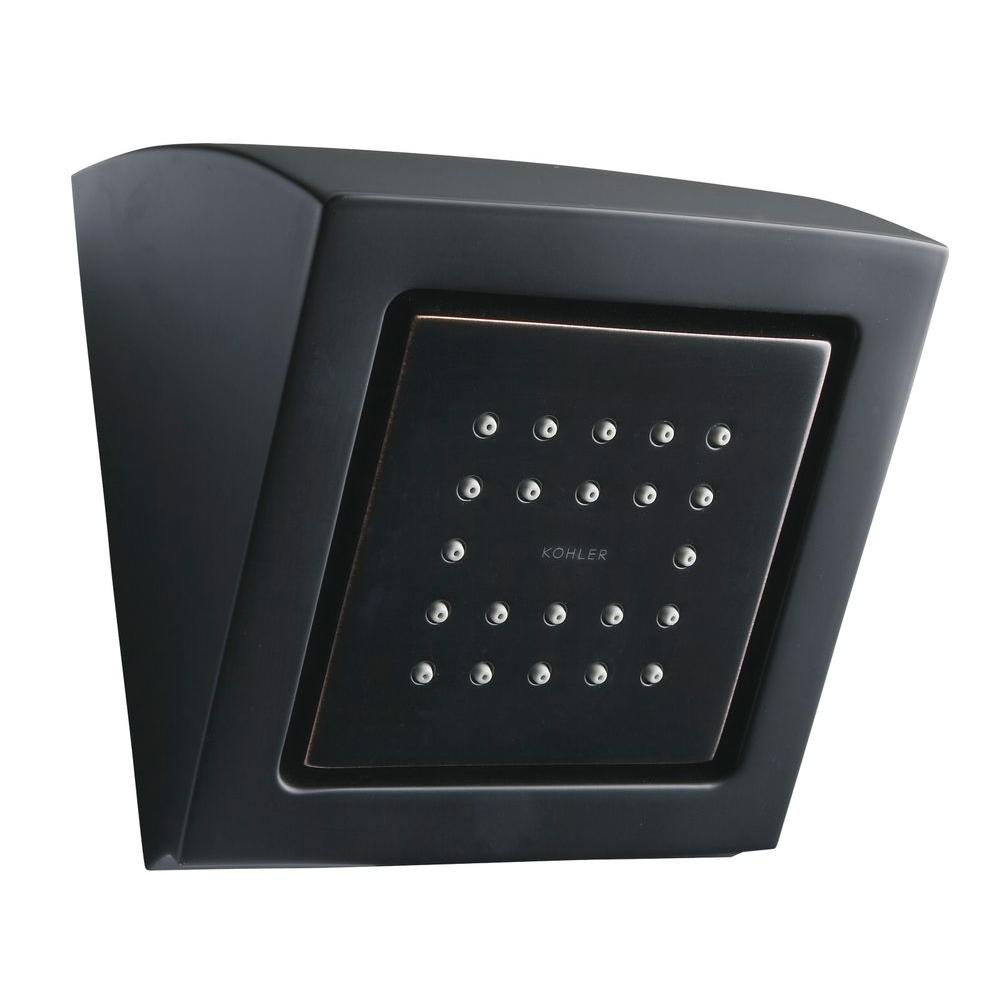 KOHLER WaterTile Square 22-Nozzle 1-Spray 4 3/4 in. Fixed Shower Head in Oil-Rubbed Bronze