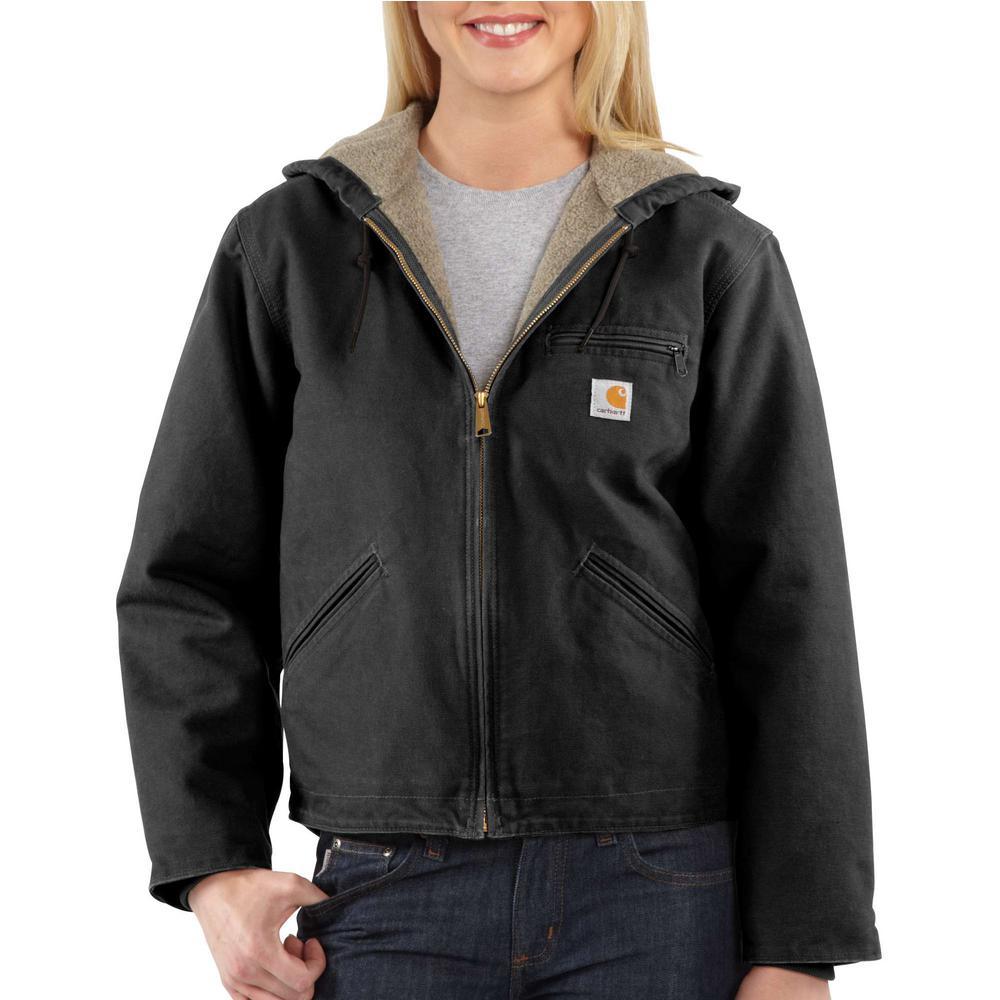 Women's Large Blk-Black Sandstone Sierra Jacket