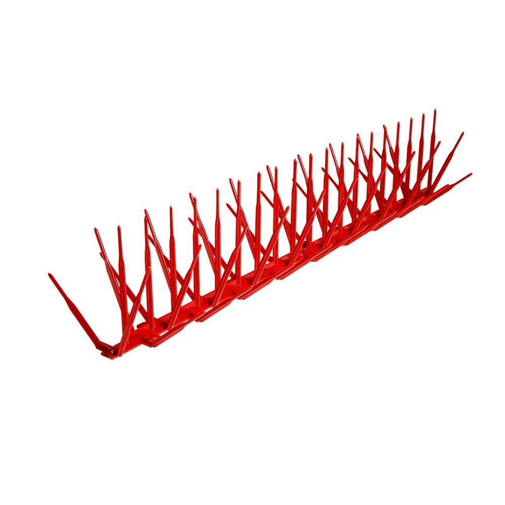 Brick Red Plastic Bird Spike - 24 ft. x 7 in.