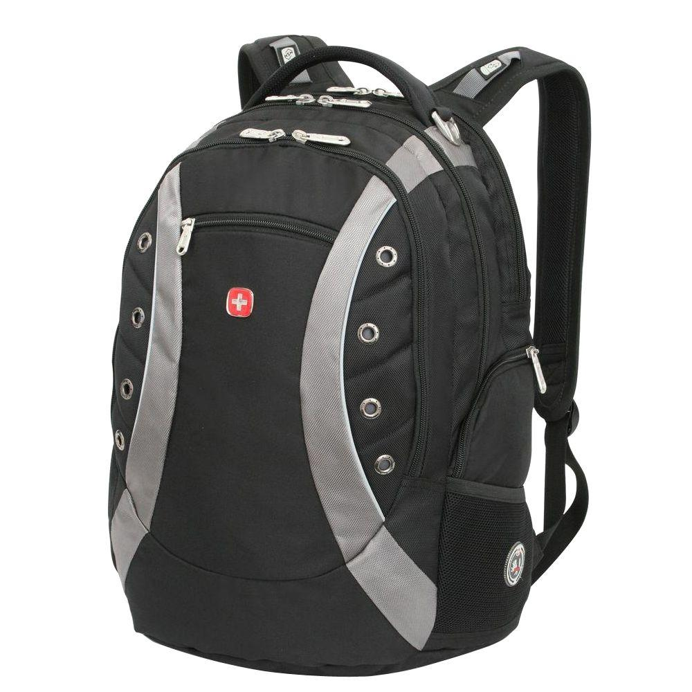 SWISSGEAR Black Laptop Backpack-11912215 - The Home Depot