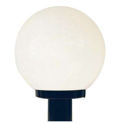 Black Outdoor Builder Light with White Acrylic Globe