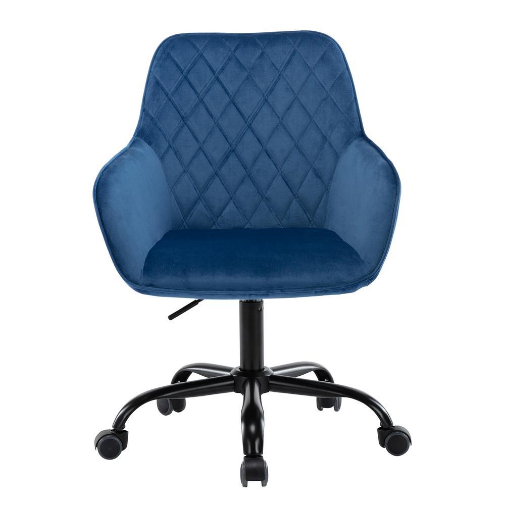 Boyel Living Blue Comfort Swivel Fabric Home Office Chair