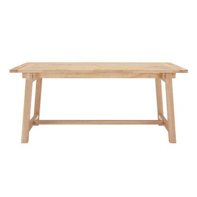 StyleWell Unfinished Wood Rectangular Trestle Table for 6 (68 in. L x 29.75 in. H)